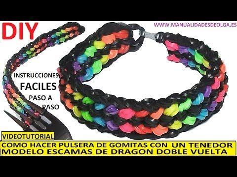 Pin De Arianna Bolaños En Joyas Rainbow Loom Pulseras De Gomitas Gomitas Arcoiris Pulsera De Goma Elástica