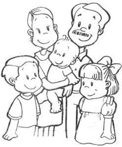 Imagenes De Una Familia Feliz Para Colorear Diferentes Tipos De