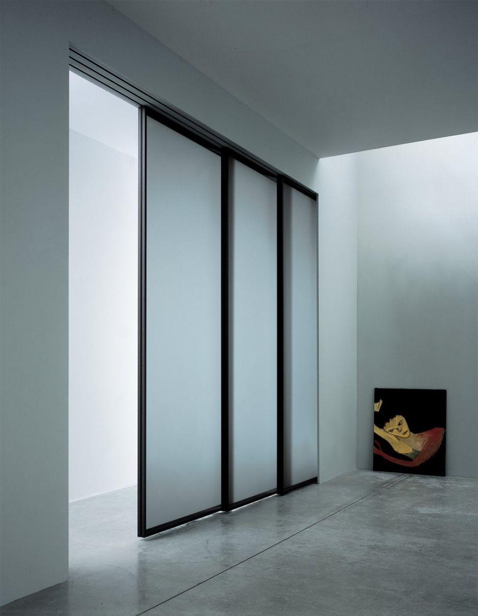 Interior, Functional Doors: Modern And Cool Sliding Closet Doors: Lovely  Pocket Sliding Doors Having Black Frames Near Open Fireplace