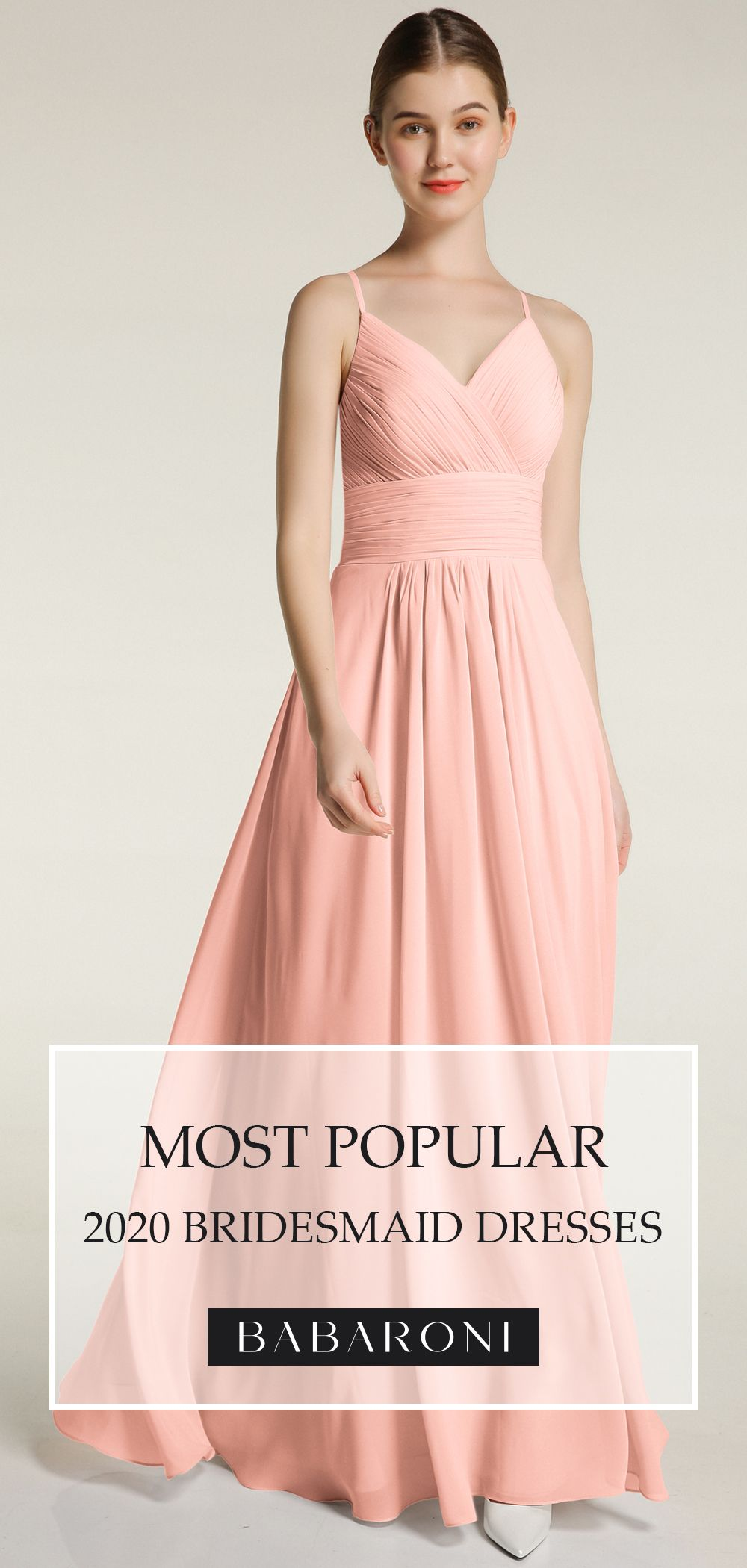 Charming Coral Color Lovely Spaghetti Strap Bridesmaid Dress With Pockets In 2020 Dresses Spaghetti Strap Bridesmaids Dresses Bridesmaid Dresses