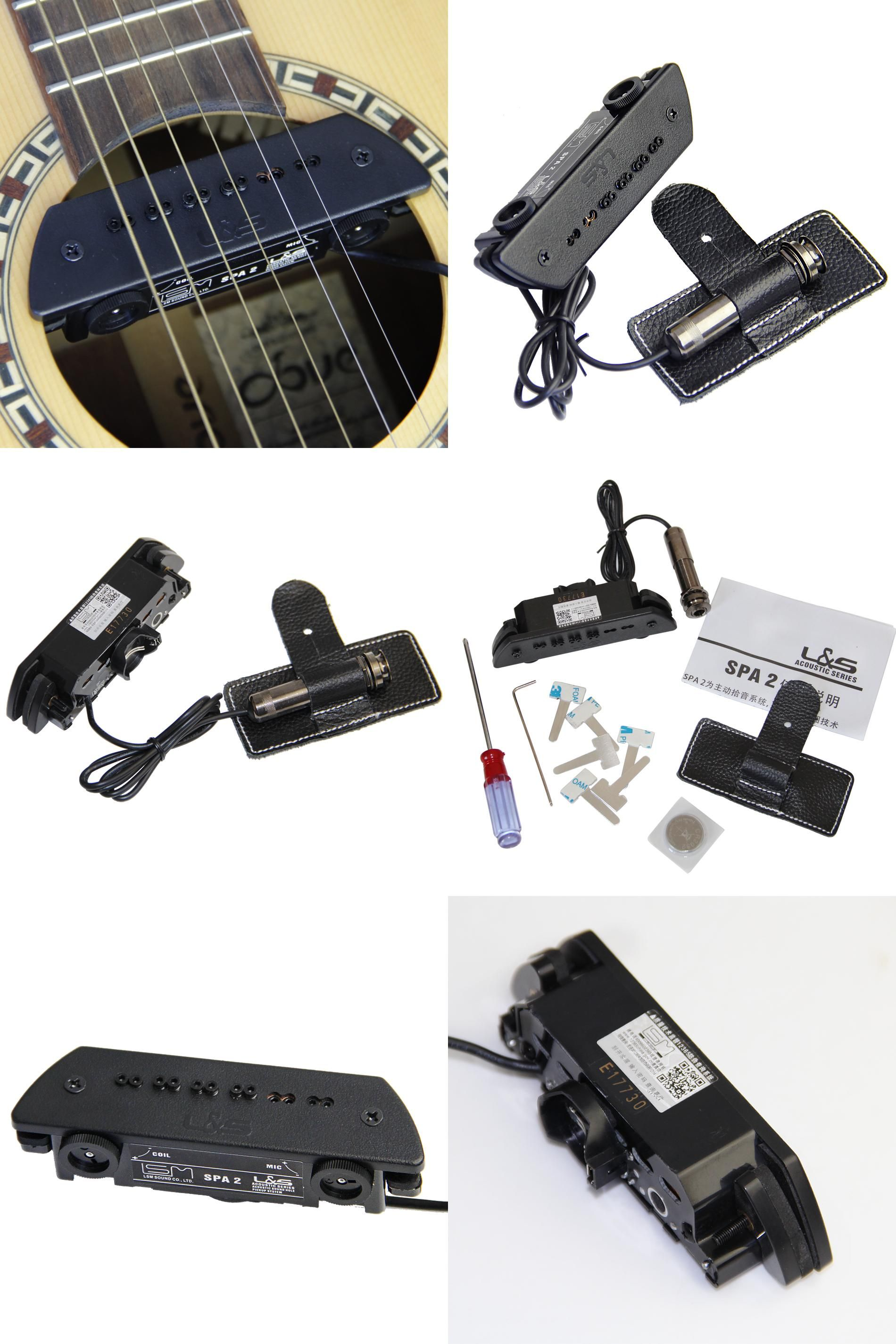 Visit To Buy Guitar Sound Hole Pickup Preamp System Preamplifier For Microphone Or Use Dual