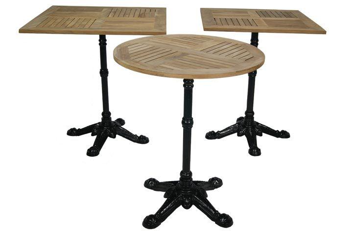 Photo.Tables pour les terrasses avec le dessus carré ou rond ...