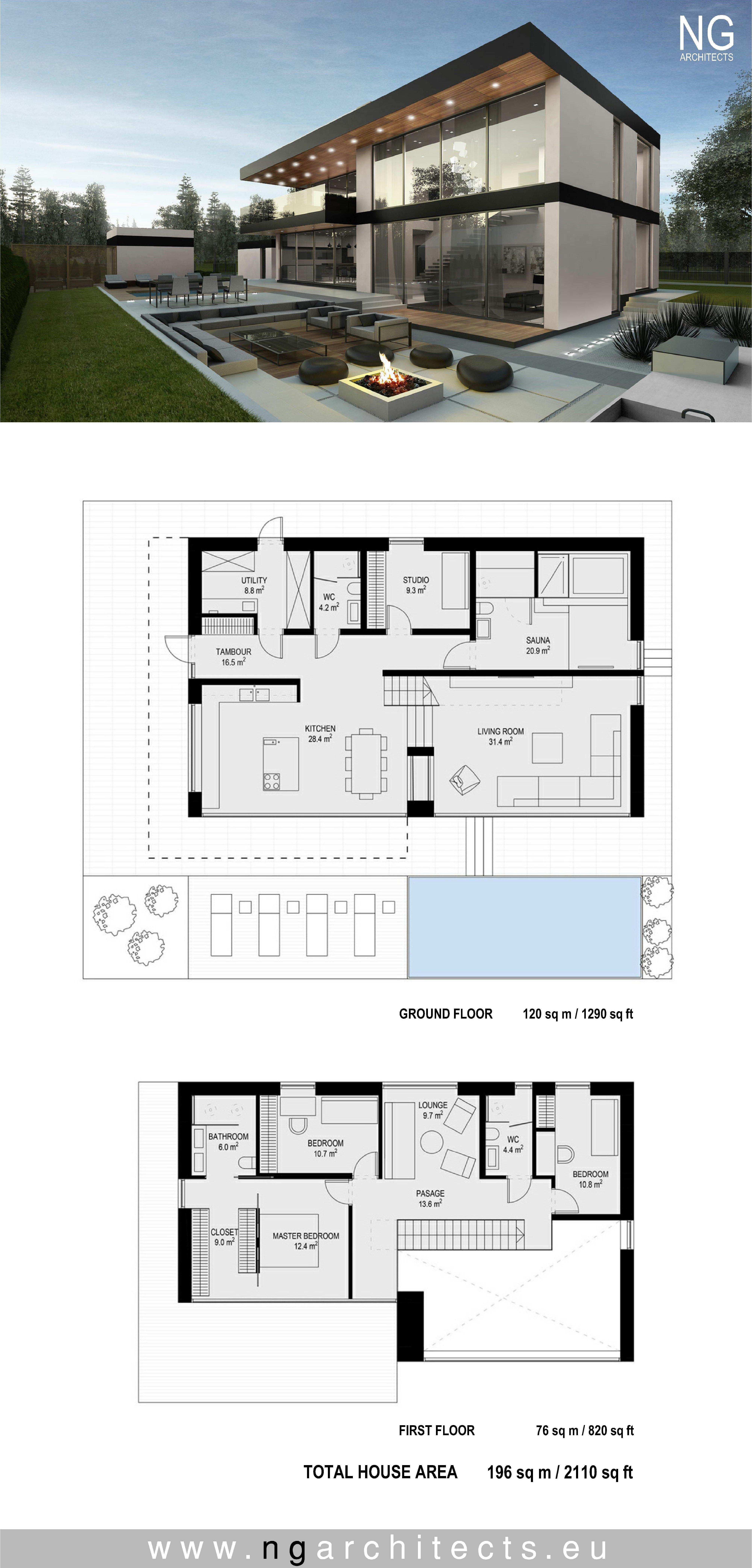 Villa Plans And Designs 2020 Arsitektur Rumah Desain Rumah Modern House Blueprints
