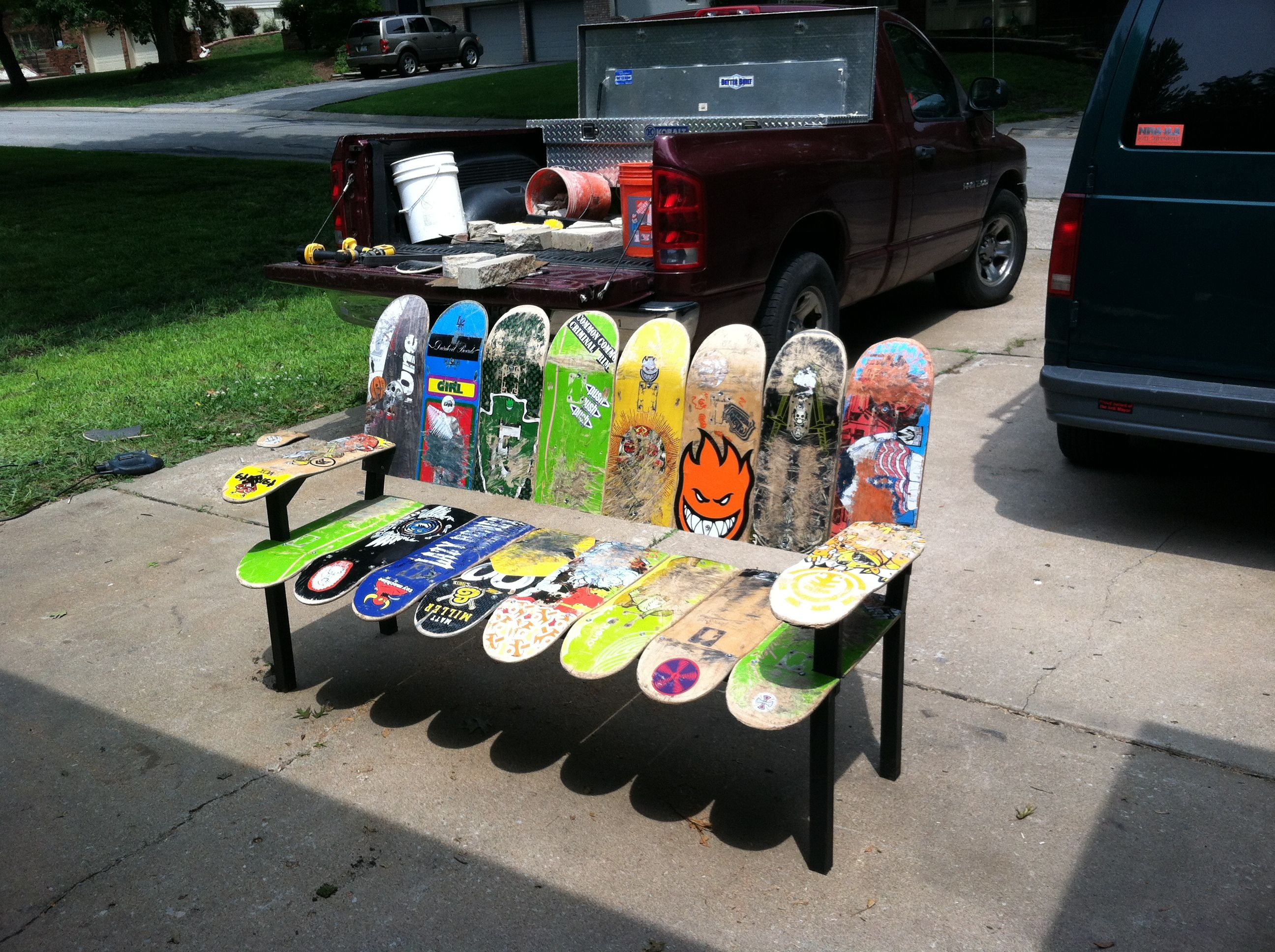 Skateboard Bench Furniture Makeover Diy Diy Makeover Skateboard