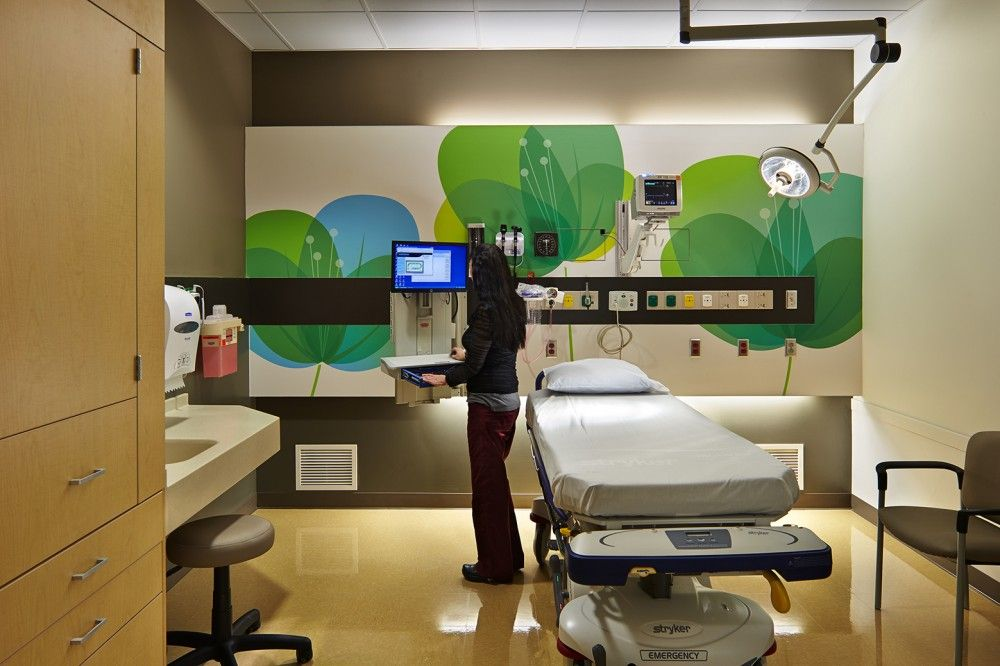 Gallery of pediatric emergency department at providence for Interior design department