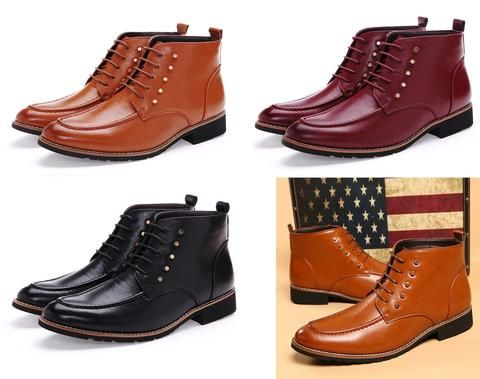 mens stylish midtop casual dress boots  mens casual