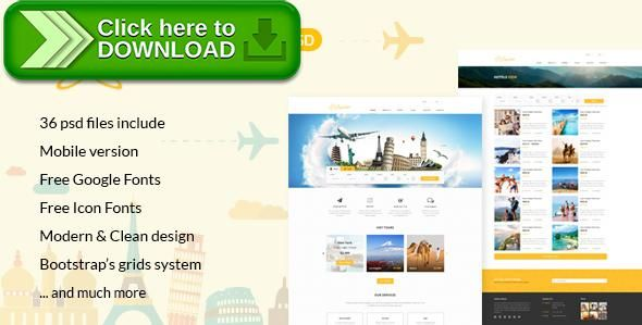 Free Nulled Suiren Travel Tour And Booking Agency Html Template