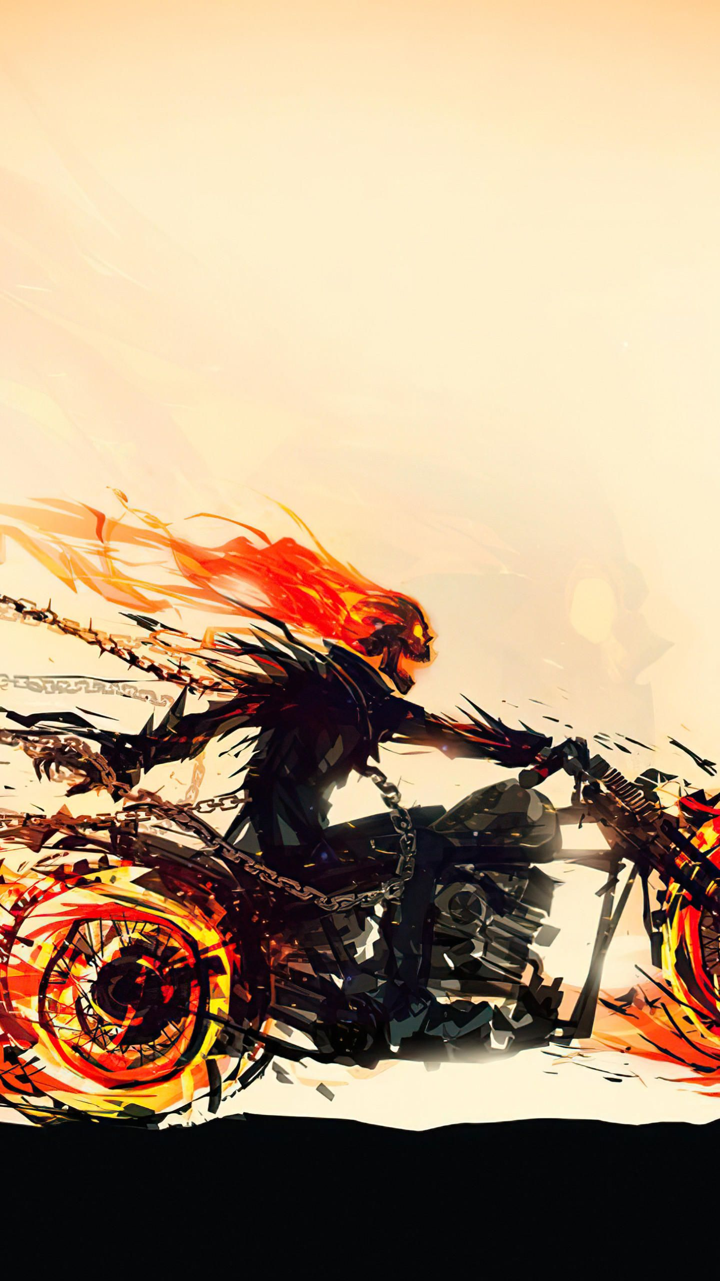 Ghost Rider Hellfire Rider 4k Hd Wallpaper In 2020 With Images