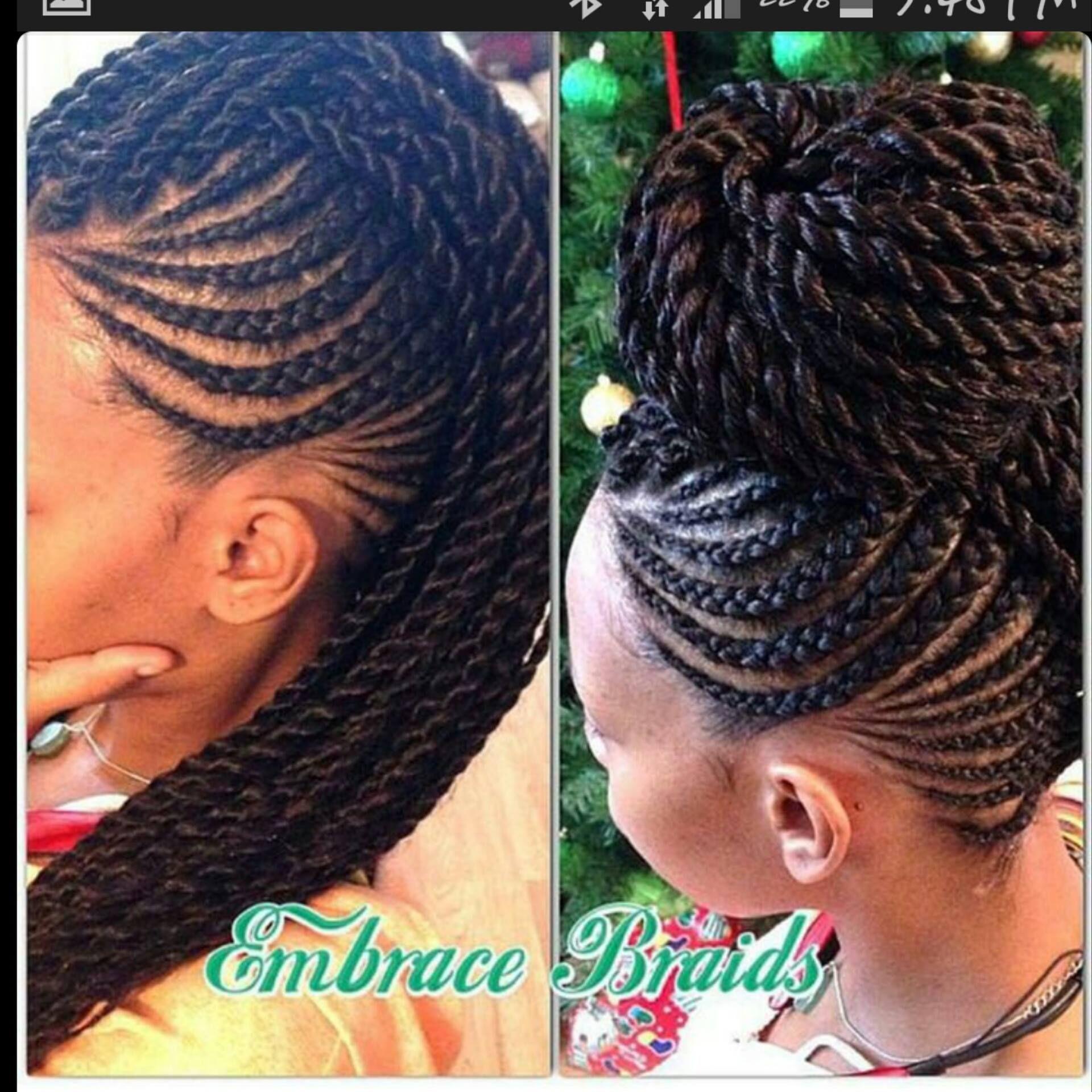 braided mohawk style + bun | hair | pinterest | mohawk styles