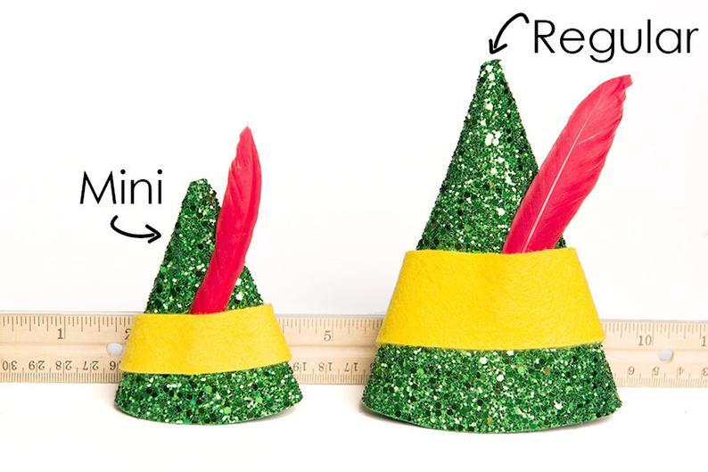 Elf Hat Buddy The Elf Hat Buddy The Elf Mini Hat Christmas Hat Etsy Christmas Gift Videos Felt Ornaments Elf Hat