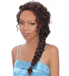 weave braid in a ponytail
