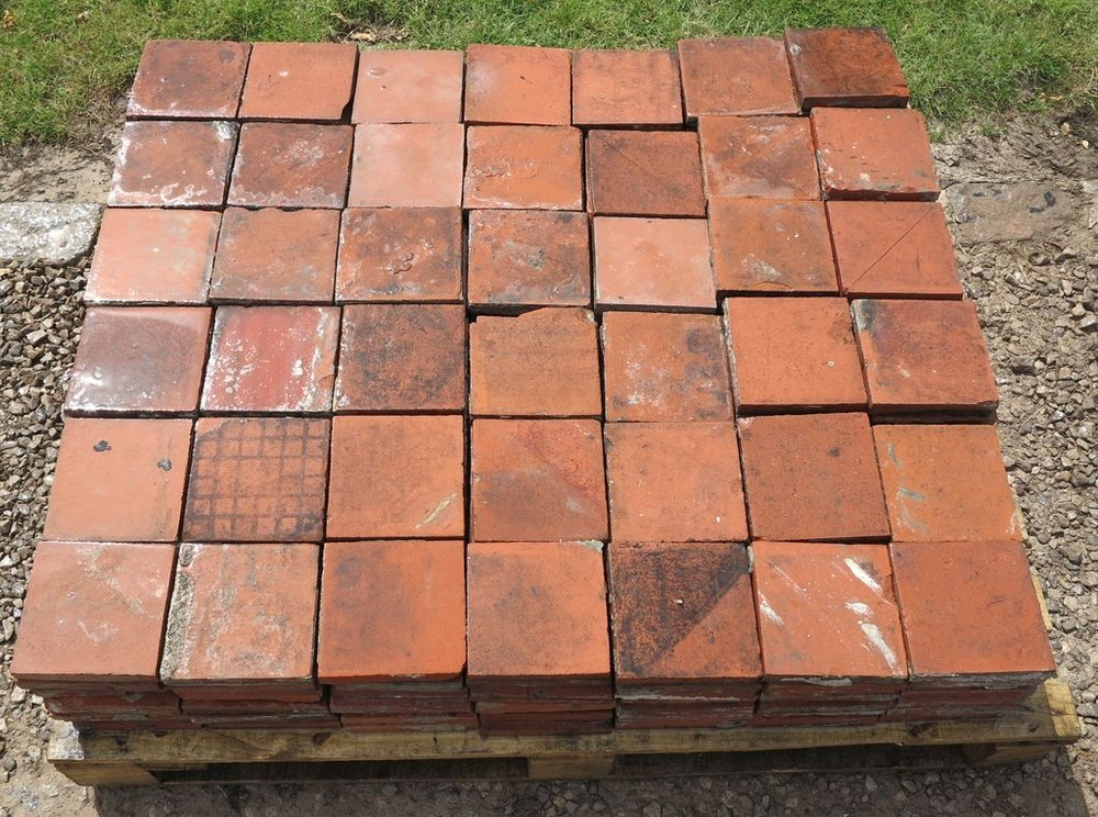 Reclaimed Terracotta Quarry Floor Tiles Flooring Antique 6 X 6