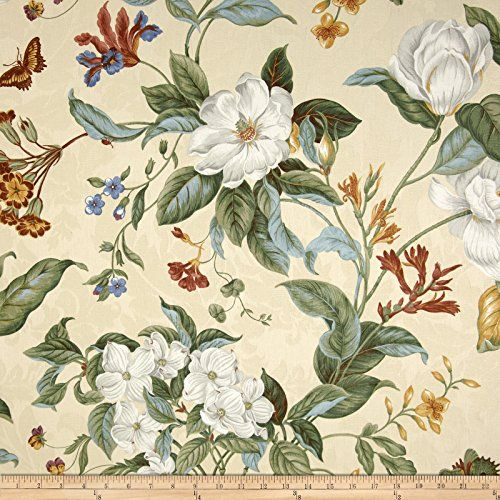 Waverly Garden Images Parchment Fabric By The Yard Waverly