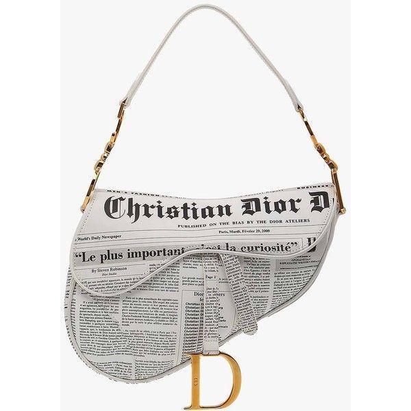 Christian dior hardcore star leather saddle bag black