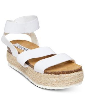 5f7ac854f2fa Steve Madden Women s Kimmie Flatform Espadrille Sandals - Black 6M ...