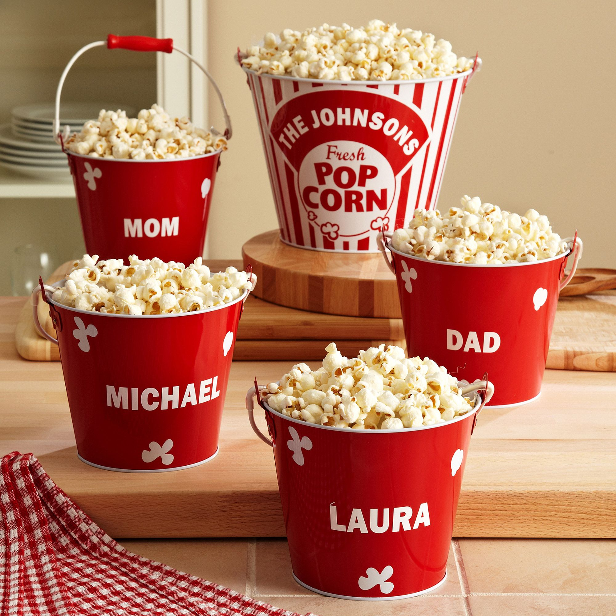 Popcorn Bucket Set  This Would Be Really Easy To