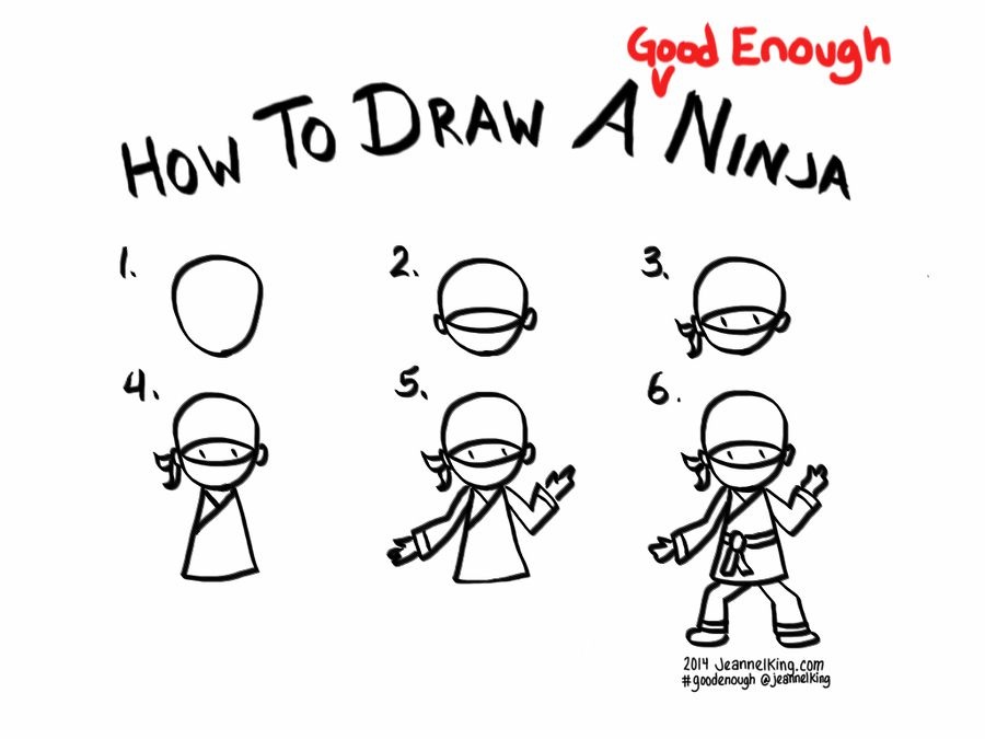 How to draw a good enough ninja