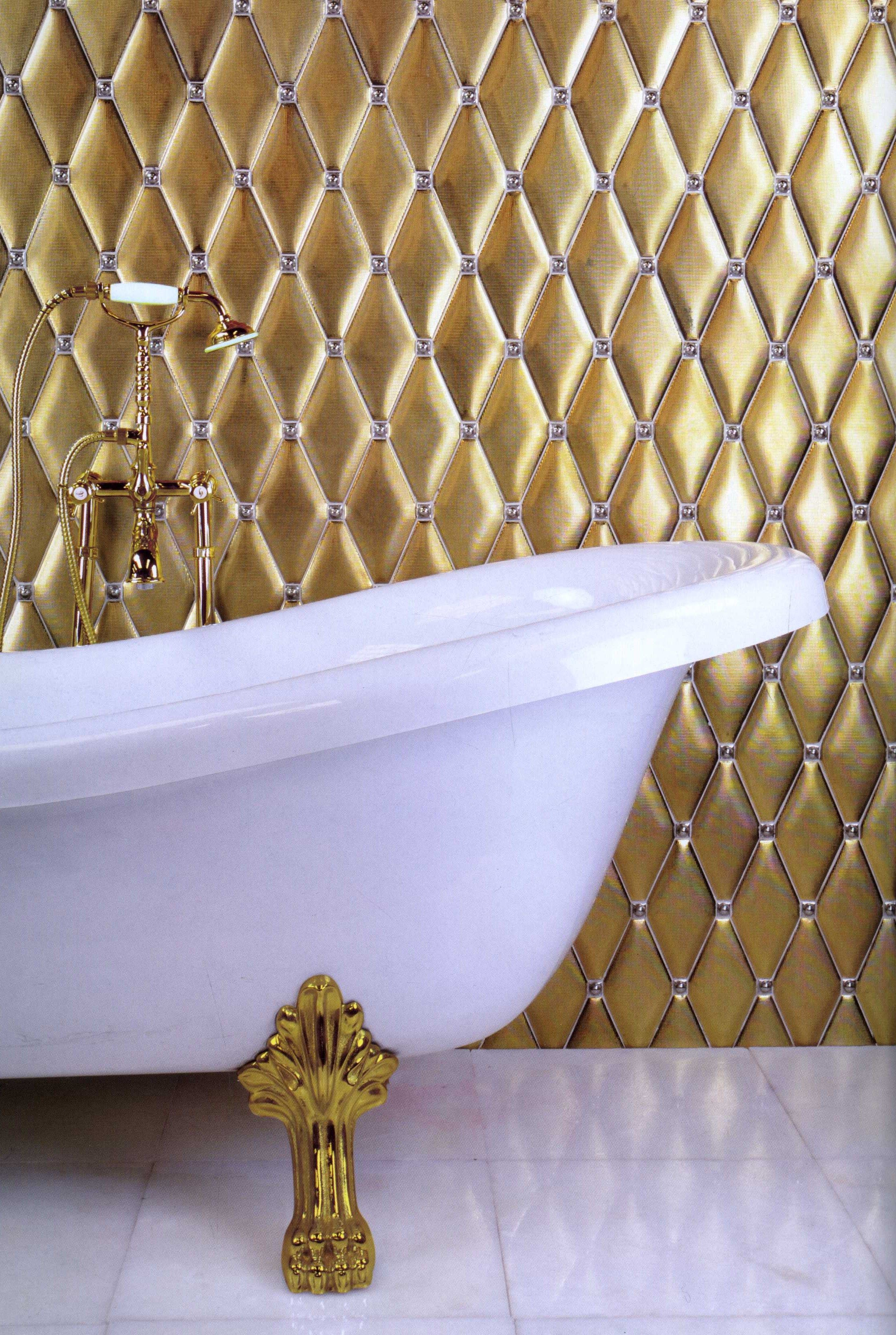Design Trends Style With Tiles Gold Walls Gold