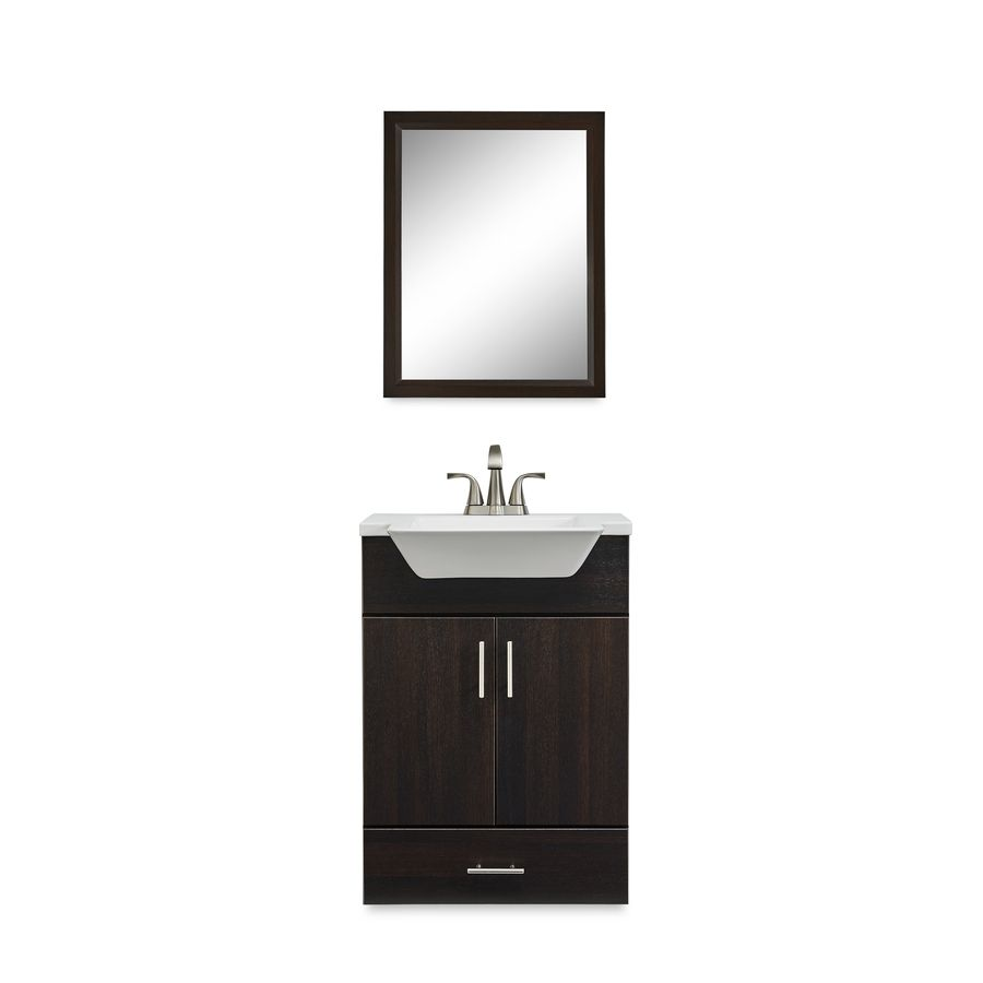 18 Inch Bathroom Vanity With Sink. Fontaine Wenge Integral Single Sink Bathroom Vanity With Mirror And Cultured Marble Top Common 24 In X 18 In Actual 24 5 In X 18 625 In