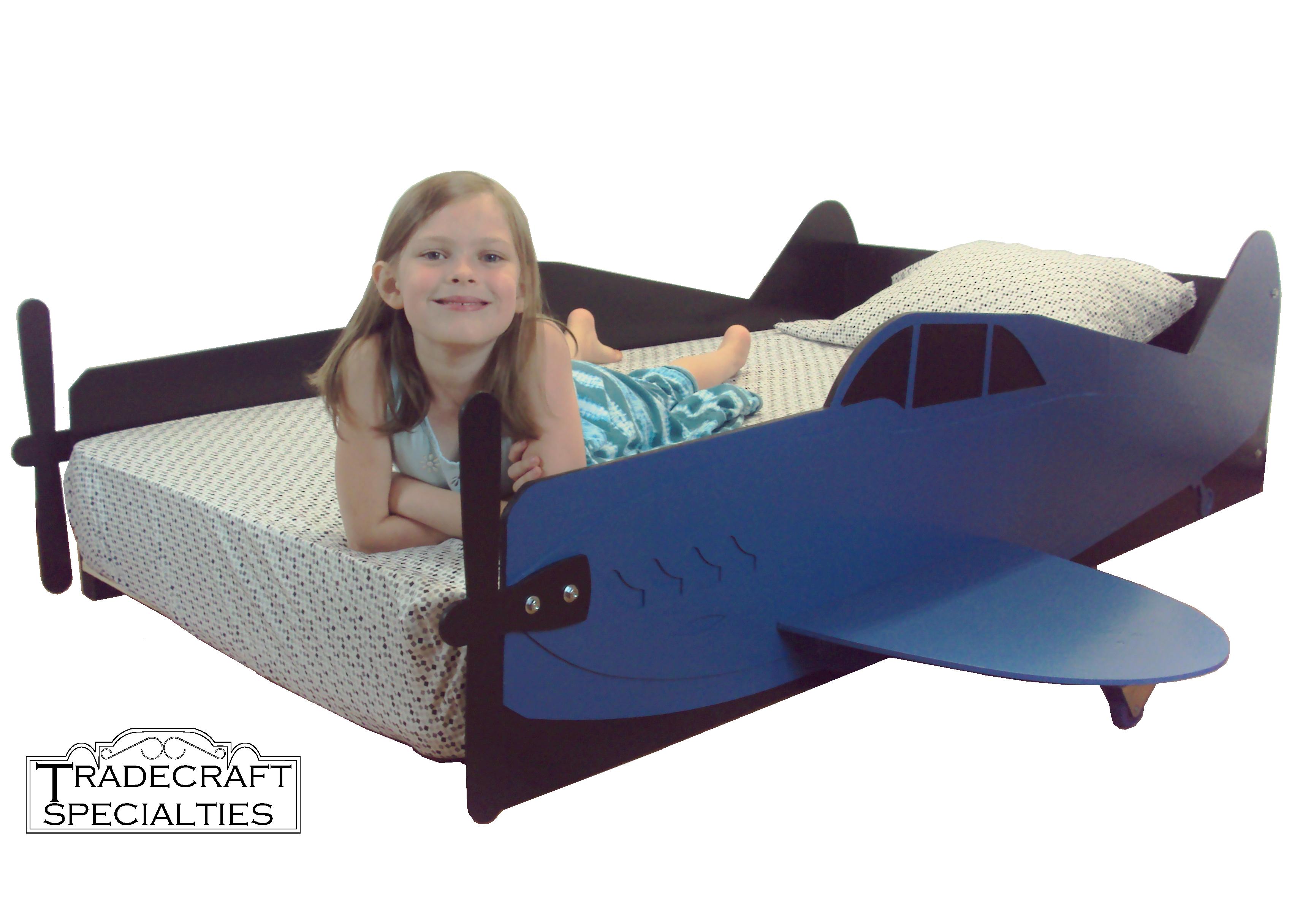 Propeller plane bed