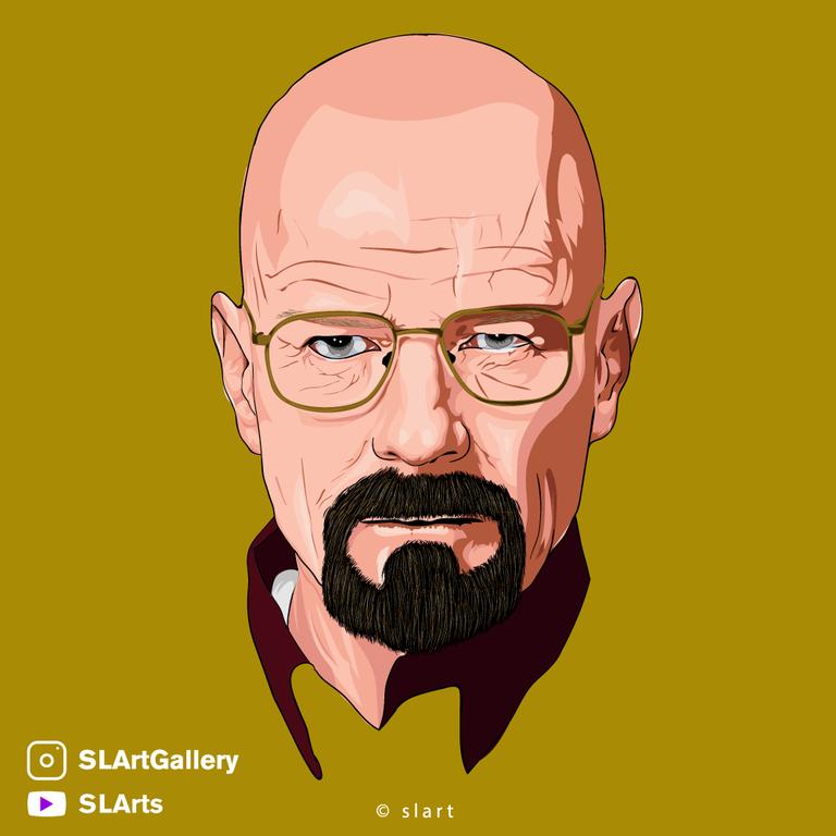 Walter White Using Adobe Illustrator Adobeillustrator Illustration Adobe Illustrator Illustration Art