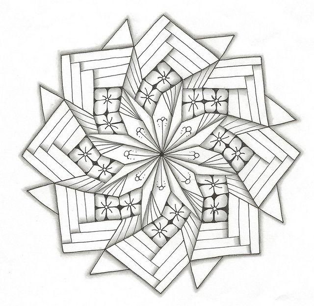 Pinwheel Fold | Mandalas, Mandala para colorear y Colorear