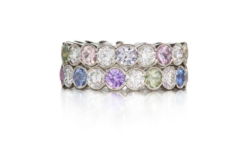 Saphires, diamonds & platinum #ateliertorbjorntillander #jewellery #jewelry