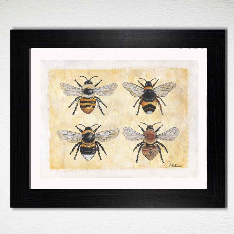 Bee Wall Art Decor Home Furnishing Painting Original Artwork Printable Makes A Great Gift By