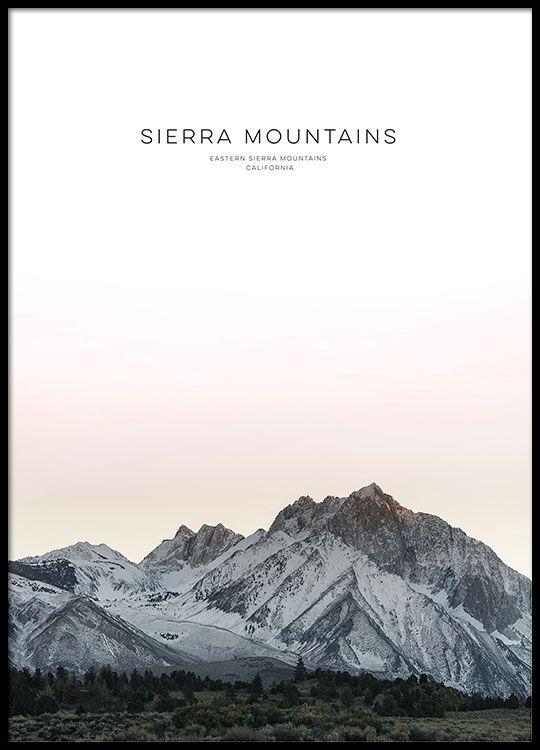 Sierra mountain, julisteet ryhmässä Julisteet  / Valokuvat @ Desenio AB (8567)