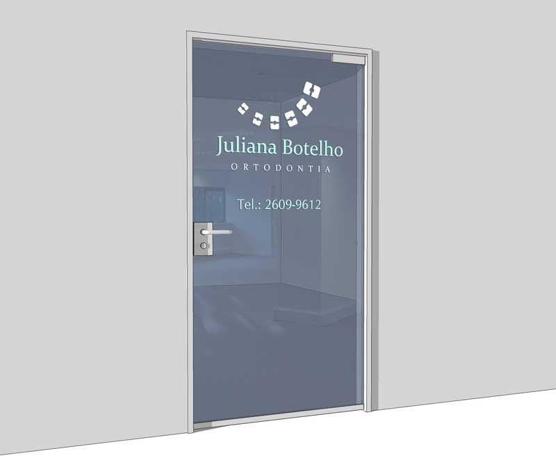 Sinalizacao Para Porta De Consultorio Dra Juliana Botelho