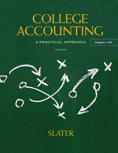 College Accounting 12th Edition By Jeffrey Slater Accounting Books Accounting Cycle Accounting