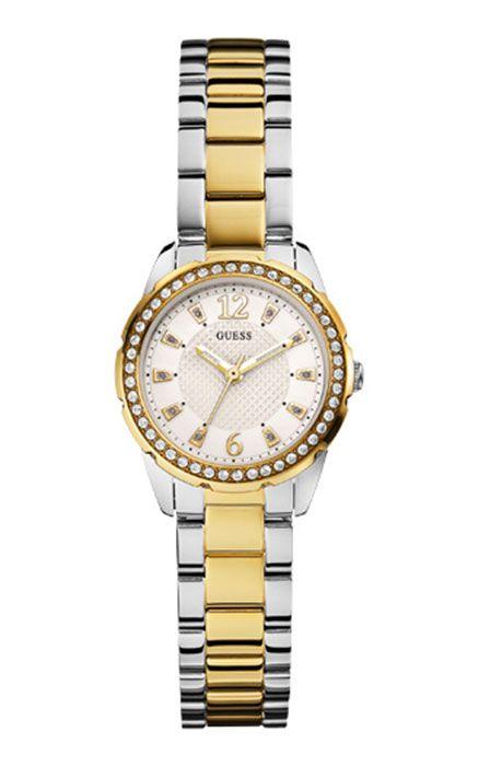 Modell W0445L4, eine sportliche Armband-Uhr. Eine ganz neue Guess-Uhr aus der Herbst/Winter Kollektion 2014, die wir gerne für Sie gravieren.