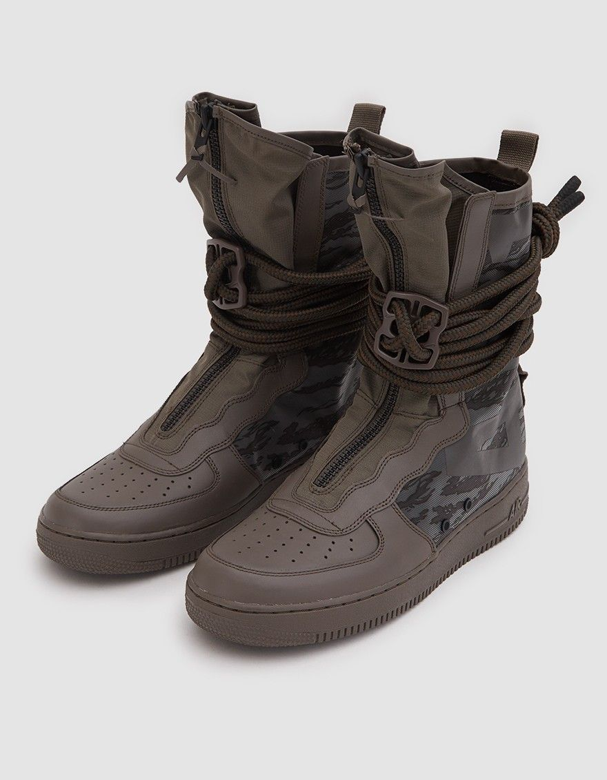 Nike Sf Air Force 1 Hi Boot In Ridgerock Black Sequoia Boots Fashion Shoes Black