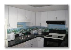 Unit 805, one of Forest Dunes one bedroom units with full kitchens.
