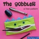 The Gobbler - free monster pencil case pattern