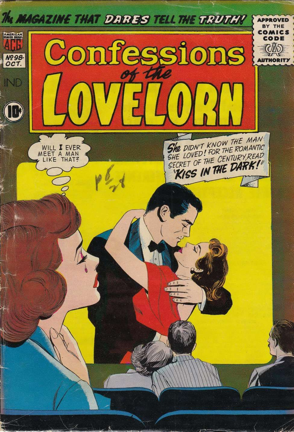 Comic Book Cover For Confessions of the Lovelorn #98