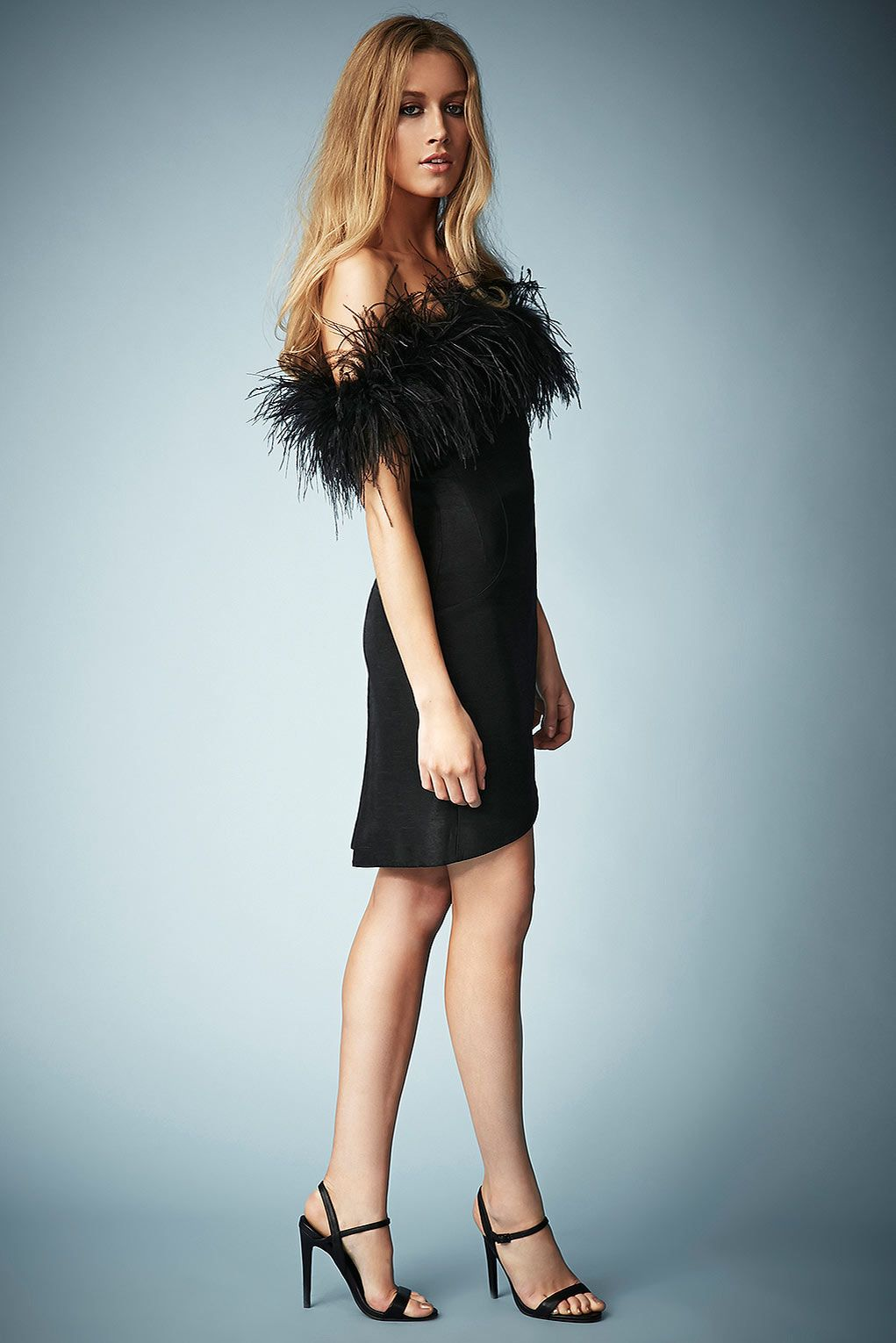 Feather Off Shoulder Cocktail Dress by Kate Moss for Topshop - Kate ...