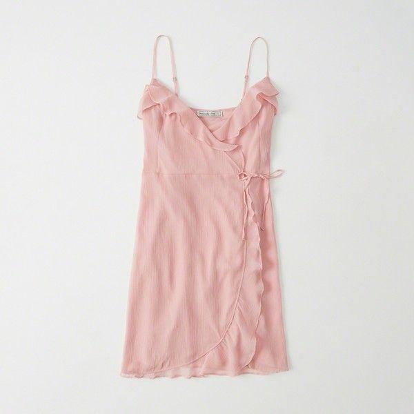 Pink Chiffon Wrap Dress