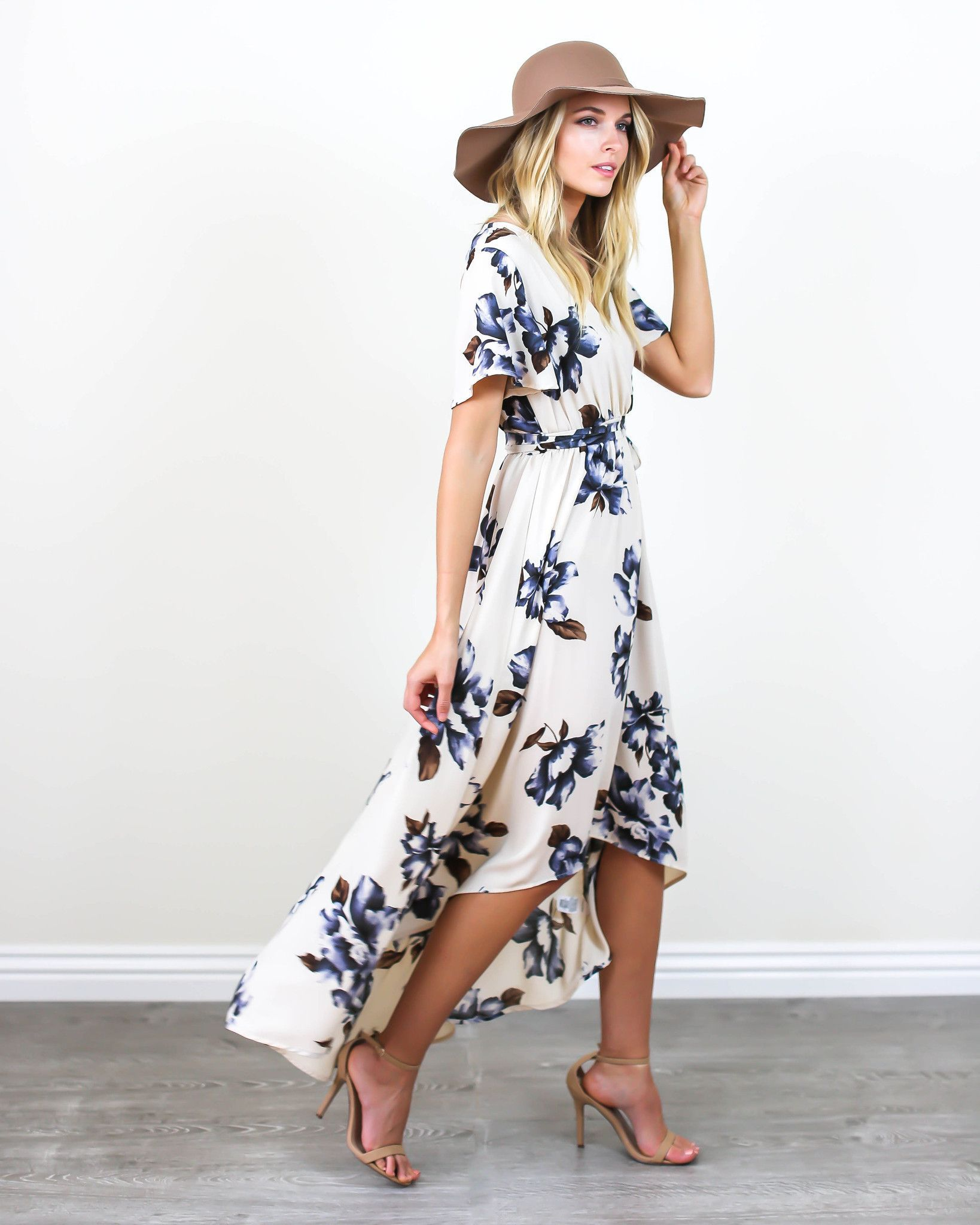 Spring vibes have arrived and our blue bonnet maxi dress is