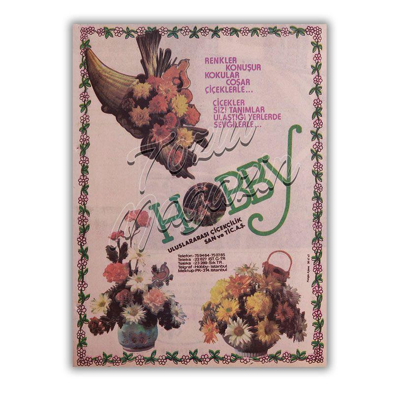 Eski Hobby Çiçekçi Reklamı