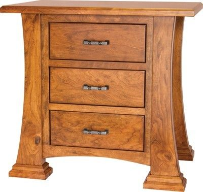 Beautiful solid wood rustic cherry nightstand with soft close drawers any wood any finish for Bedroom furniture soft close drawers