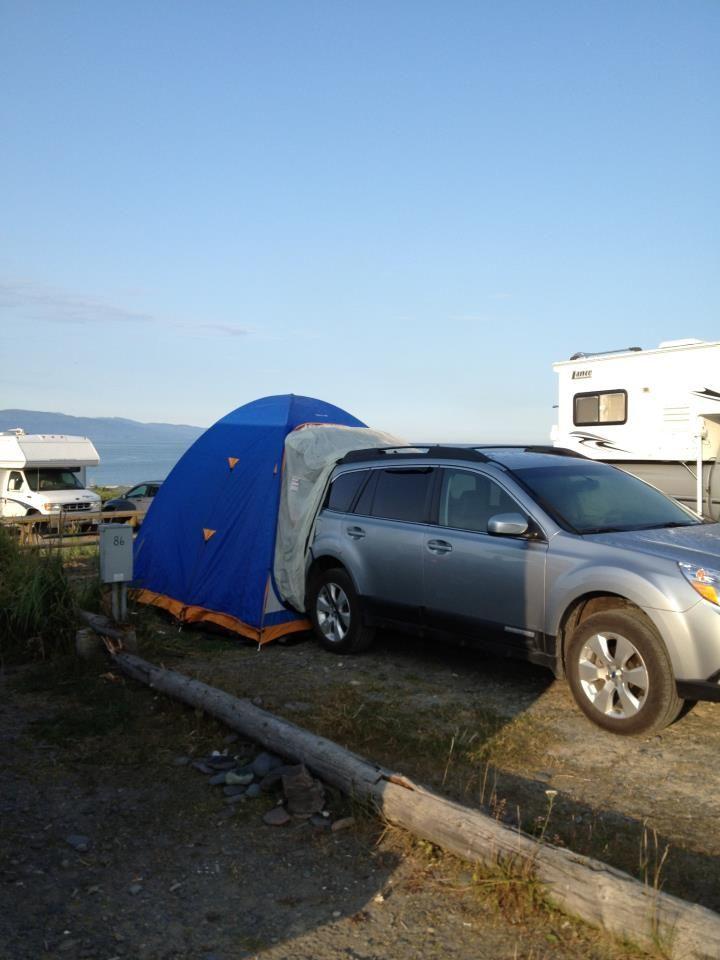 subaru outback tent trailer