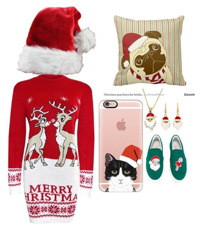 """""""Christmas outfit to prepare for family"""" by breeamyotte on Polyvore featuring Casetify and Joshua's"""
