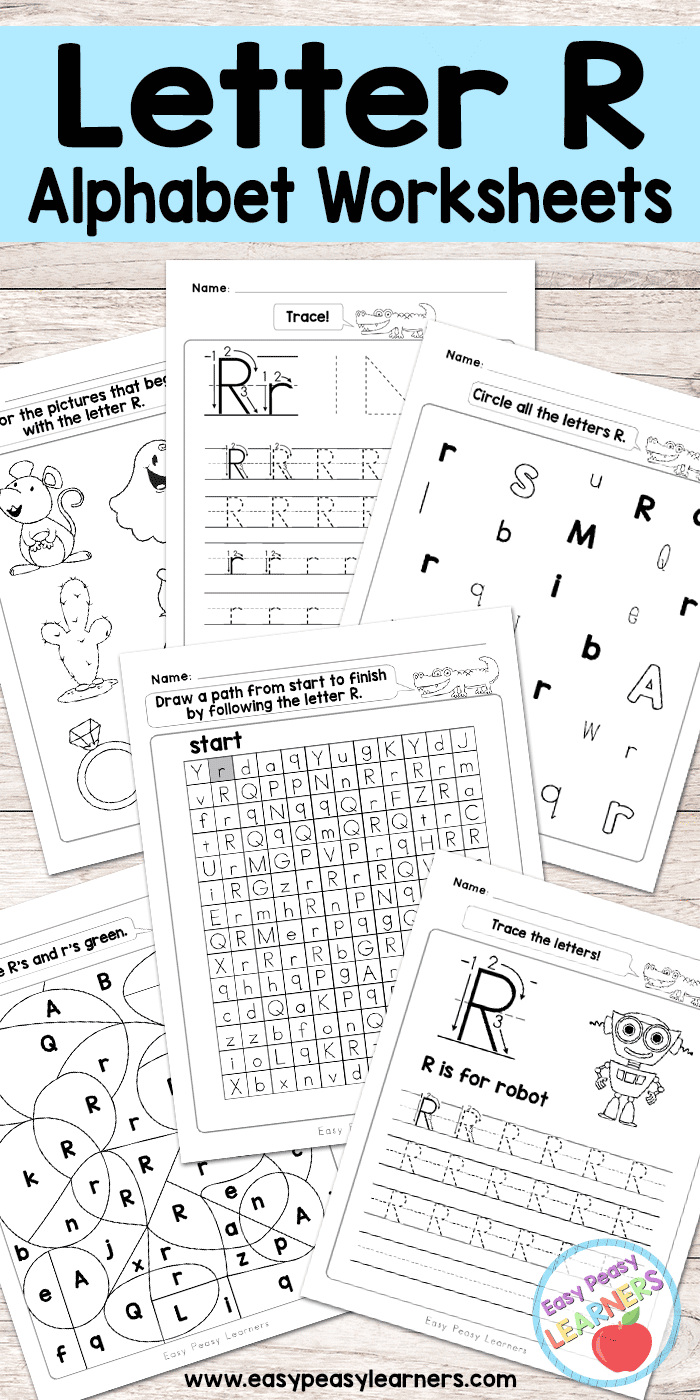 Free Printable Letter R Worksheets Alphabet Worksheets Series