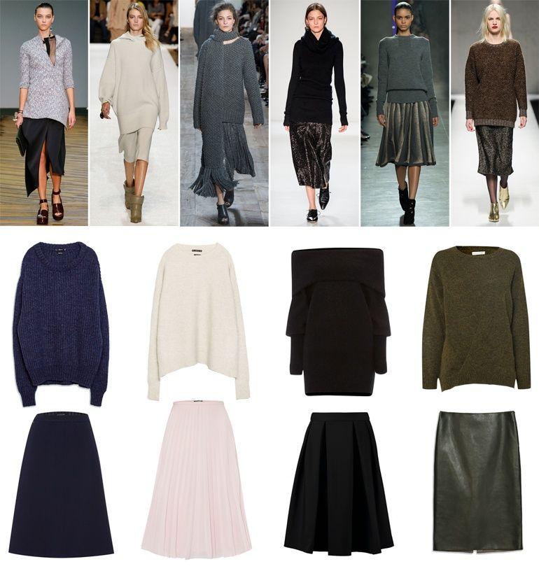 Fashion Hoax / Trend Report Fall 2014 #4: Big Knits & Midi Skirts //  #Fashion, #FashionBlog, #FashionBlogger, #Ootd, #OutfitOfTheDay, #Style