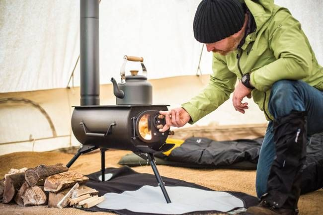 Portable Woodstove Folds Down Heats Up Tents Yurts Tiny Homes Portable Wood Stove Tent Stove Wood Burning Stove