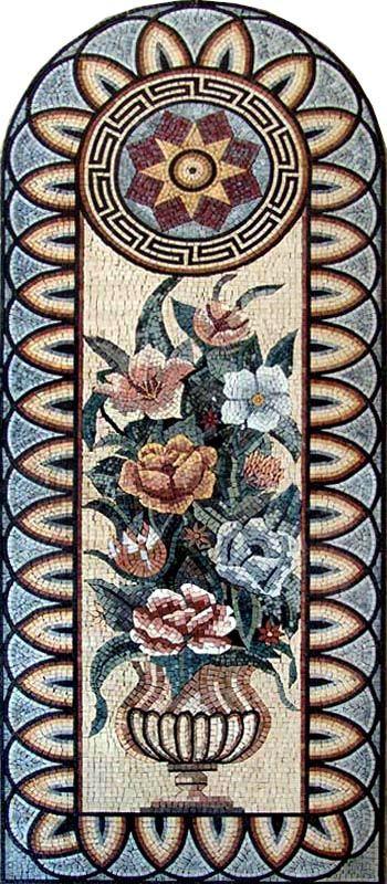 Mosaic Tile Murals | Details about Flower Marble Mosaic Tile Stone Art Wall Mural