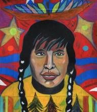 Cree Man in a Thunderbird Dream by George Littlechild kp