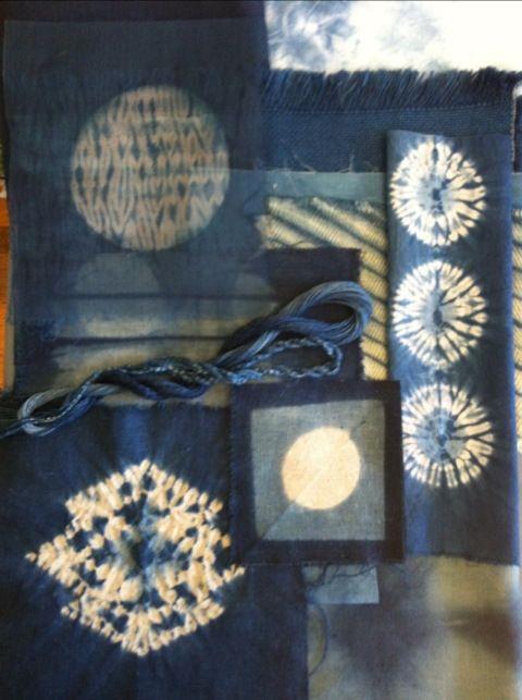 mood indigo moon shibori indigo teinture tissu teinture naturelle bleu indigo. Black Bedroom Furniture Sets. Home Design Ideas