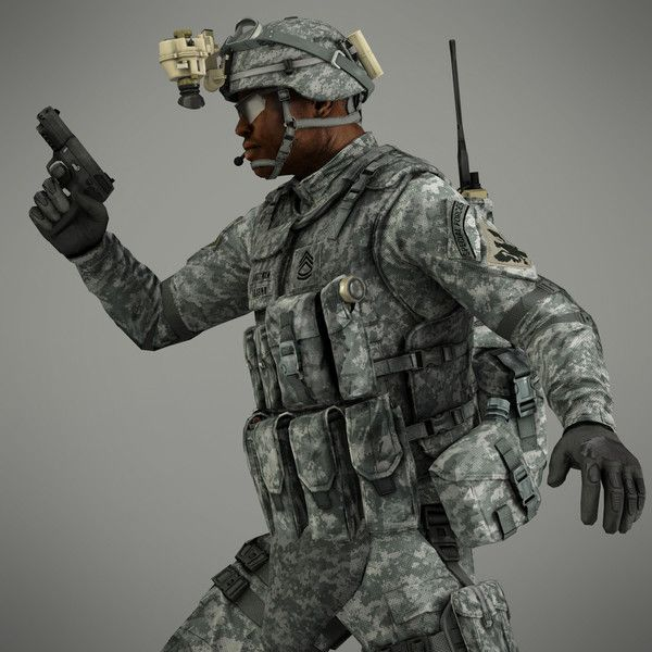Incredibly Realistic 3D Model Of A US Infantryman From